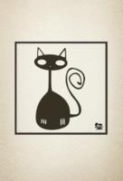 【小黑猫】萌宠物·摄影·旅行·手绘·卡通·傲娇·森女文艺风-定制lomo卡套装(25张)