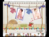 亲子宝宝的晾衣架-8寸单面印刷台历