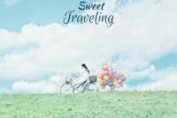 甜蜜旅行(装饰可移动、图片可换)-24寸木版画横款