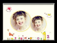 手绘童年记忆(女孩版)-A3横款挂历