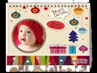 可爱小动物,新年来贺。宝贝儿童-8寸双面印刷台历