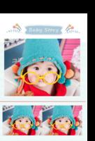 Baby Story(记录宝贝成长的点滴)-印刷胶装杂志册26p(如影随形系列)