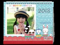 萌萌可爱卡通台历(封面照片可替换)-10寸双面印刷台历