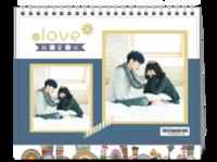2019我们的美好--情侣 写真 爱情 恋爱 小确幸-8寸单面印刷台历