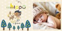 儿童成长照片书模板-图片文字可修改-方8寸Lucky book硬壳照片书30p