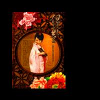 古典美女-双面定制扑克牌(圆角)微商