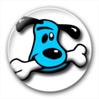 狗狗啃骨头-卡通小人钥匙扣