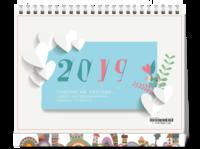 2019幸福生活#-8寸单面印刷台历