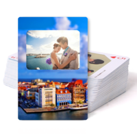 愉快的旅行纪念(爱情 旅行 旅游 )-双面定制扑克牌