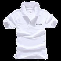 fashion 时尚英文字-男款纯色POLO衫