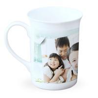 快乐生活_骨瓷白杯