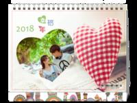 恋爱-(微商)8寸单面横款台历