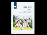 【素锦时光-再见那些年】青春毕业季校园-硬壳对裱照片书24p-微信A4骑马钉画册