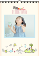 完美BABAY 给孩子一个快乐美好的完美童年 图文可替换-A4挂历