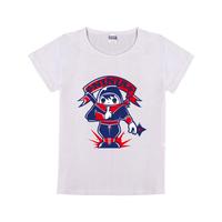 忍者娃母版-童装纯棉白色T恤