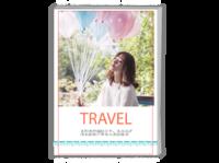 旅行的路上满满幸福(封面封底图片可替换)-A4时尚杂志册(26p)