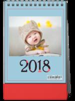 2018爆款十二生肖台历(萌娃-全家福-商务-通用-照片可换8SS台历)-8寸竖款双面