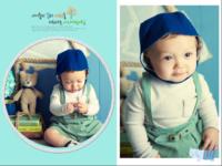 【童真童趣系列---亲亲我的宝贝】送宝宝一个贴心的礼物--男宝宝专用款(图文可换)-16寸木版画横款