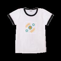卡通图案儿童T恤-时尚童装撞色T恤
