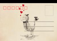 爱情猫-全景明信片(横款)套装