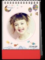 时光故事之童真世界-女孩的成长记-(微商)8寸竖款双面台历