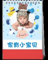 家有小宝贝 妈妈给宝宝记录美好童年 全家福-(微商)10寸单面竖款台历