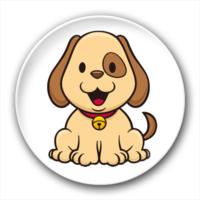 可爱的小狗-4.4个性徽章