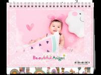 美丽小天使(照片可换HD台历)-8寸单面印刷台历