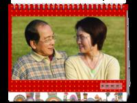 幸福爸妈(封面照片可更换)-8寸单面印刷台历