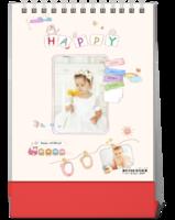 可爱萌宝宝快乐生活每一天—儿童成长纪念-10寸竖款双面