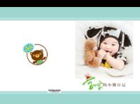 宝宝的小熊日记-亲子-儿童-卡通-萌娃-可爱小熊(照片可换)-硬壳精装照片书30p