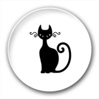 黑猫右-4.4个性徽章