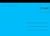 蓝色调调-全景明信片(横款)套装