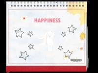 HAPPINESS-10寸单面印刷台历
