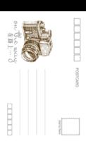 on the way(通用) 青春 爱情 旅行旅游纪念-18张正方留白明信片(竖款)