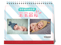 宝宝最爱 快乐成长的伙伴#-10寸单面印刷台历