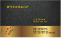 名片 创意大气简约简洁高档商务企业个性通用 金色 美容化妆餐饮美食-高档双面定制横款名片