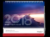 2018企业照片台历-10寸双面印刷台历