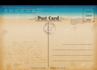 复古海滩明信片-全景明信片(横款)套装