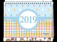 可爱 宝贝 2019#-8寸单面印刷台历