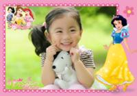 女孩最爱的白雪公主-彩边拍立得横款(36张P)