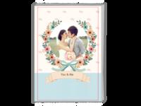 花的嫁纱-爱情 情侣 婚纱纪念相册-图文可改-等风也等你-A4时尚杂志册(24p)