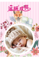 X7年历 挂历 卡通宝贝亲子 儿童童年成长-(微商)A3单月挂历