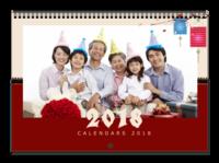 2018狗年大吉-全家福-A3横款挂历