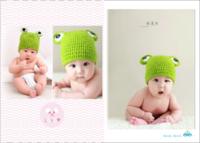 【我们家有一个可爱的小宝宝系列,爸爸妈妈都爱你】(图文可换)-7寸木版画竖款