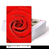 旅游风光 红色浪漫玫瑰花 唯美花卉 爱花朵看花海-双面定制扑克牌
