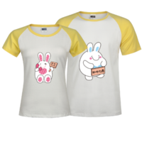 非你情侣兔-时尚插肩情侣装T恤