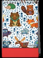 卡通图文可替换森林系列 可爱 温馨萌萌哒-8寸竖款单面台历