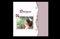 only you-8x8印刷单面水晶照片书