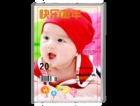 快乐童年-适合满月-百日-周岁-生日-儿童成长纪念册-A4时尚杂志册(26p)